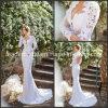 Da forma nupcial do vestido de casamento da parte traseira oca vestidos de casamento longos Ld11531 das luvas de Vestidos