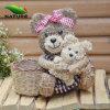 Christmas personalizado Gift com peluche Basket de Grass