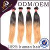 Two Color Virgin Peruvian Human Hair Silky Straight Hair Weaves