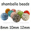 10mm Highquality Clay Crystal Disco Ball Shamballa Beads