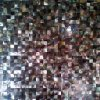 Черная мозаика раковины 10*10 Mop губы