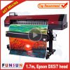 Impresora popular de la flexión de Funsunjet Fs-1700m 1440dpi el 1.7m con una pista Dx5