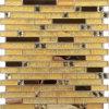 Xy159 precio de fábrica de amarillo mosaico de vidrio Backsplash lineal Egipto