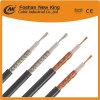 Cable de la fábrica de cable coaxial RG58 de revestimiento de PVC para la comunicación de la Telecom