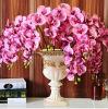 L'orchidea verde artificiale del Cymbidium stacca i fornitori dal gambo artificiali viola di seta del fiore dell'orchidea di Phalaenopsis dei fiori artificiali