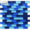 卸し売りOEM光沢のある青いカラーガラスタイルのプールのタイルのモザイク