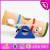 De nouveaux produits Indoor drôles de petits animaux rampants Pet en bois jouet Seesaw W06F028
