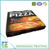 Rectángulo de empaquetado impreso aduana barata de Brown para la pizza