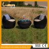 Jogo ao ar livre do sofá do Rattan da mobília do quarto de assento do jardim da cadeira da forma redonda do ovo