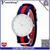 Yxl-257 Reloj de la tela de nylon de la promoción promocional de la tela Reloj ocasional de las mujeres Relojes de la venta del diamante del deporte de la raya del diamante
