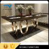 鋼鉄家具の足自然な木製表の木のダイニングテーブル