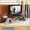 Kabinetten van het Ontwerp van de Luxe van het Gouden Plateren van TV van het glas de Hoogste voor Verkoop