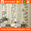 1.06m breite Breiten-Luxuxentwerfer-Blumen-Tapete waschbar