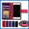 iPhone 6/6sのための革Wallet Card Holder Mobile Phone Cover