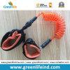 Laisse surfante de palette de kayak de laisse de bobine de corde orange faite sur commande de planche de surfing