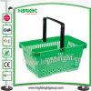 Escoger la cesta de compras plástica portable de la maneta para el supermercado