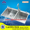 10mm Radius Double Bowl Stainless Steel Sink