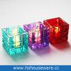 Vidro policromático de estilo quadrado suporte para velas