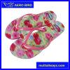 Nuevas flores de la manera de las muchachas del flip-flop PE zapatillas de marca mujer