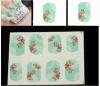 Etiqueta do prego das etiquetas da arte do prego de transferência da água da flor do teste padrão do laço de Rosa