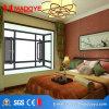 El material de construcción de la ventana de grano de madera bastidor de aluminio de piso
