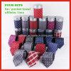 Pañuelo tejido hecho a mano de las mancuernas del lazo de seda de la aduana el 100% con el conjunto del rectángulo