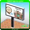 Cartelera publicitaria de enrollamiento echada a un lado doble puesta a contraluz LED al aire libre