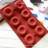 Bolo redondo do silicone dos bolinhos flexíveis e duráveis do chocolate