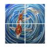Pintura de los pescados para el colgante de pared del metal
