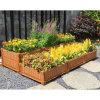 Blumen-Potenziometer mit ausdehnbares Rad-Gitter Flynet Gewächshaus angehobenem Garten-Bett zusammenbauen