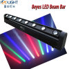 8*10W RGBW 4in1 LED 이동하는 맨 위 광속 바 빛