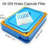 200穴のサイズ0のカプセルの注入口のカプセルの充填機の食品等級の版のツール