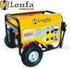 generador portable de la gasolina de 6.5HP 2.5kw Kobal con la maneta y las ruedas