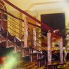 Chapado de acero inoxidable clásica de la moda de las escaleras