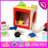多機能の木のブロックのマッチゲームのおもちゃ、木の教育ブロックのおもちゃW12D031に一致させる形