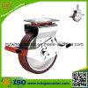 200mm Scaffolding Caster Witn Red PU auf Nylon Core Wheels