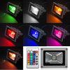 리모트 10로 20 30 50W RGB 방수 LED 스포트라이트
