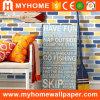Le décor intérieur mur de brique de Papier coloré Papier peint en 3D