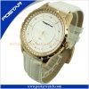 Montre-bracelet Psd-2864 de quartz d'acier inoxydable de qualité de dames