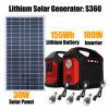 100W Gerador do Inversor do Sistema de Iluminação Doméstica Solar com lâmpadas LED