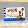 Cartão Pearlescent do PVC da impressão com a listra magnética para o supermercado