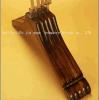 Ganchos de madeira antiderrapagem de madeira do vintage