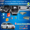Interface GPS de navigation GPS Android pour 2016 Toyota Sienna, Google Play Store, WiFi / Bt / Mirrorlink
