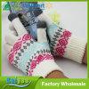 Guantes de acrílico del telar jacquar del otoño del invierno de los guantes blancos de la pantalla táctil