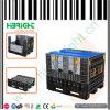 Zusammenklappbares logistisches Ladeplatten-Behälterplastikmit/ohne Kappen