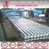 Hoja de acero acanalada galvanizada del material para techos
