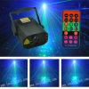 Laser des Weihnachtsminilaserlicht-350MW Rgbg 8gobos und 3W blaues LED Licht mit Fernsteuerungs