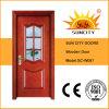 Дверь горячей картины облицовки сбываний стеклянная деревянная (SC-W097)