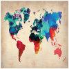 Naxart 20*30のインチ世界の水彩画のマップ1ポスター