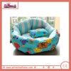 만화 파랑에 있는 귀여운 온난한 애완 동물 침대